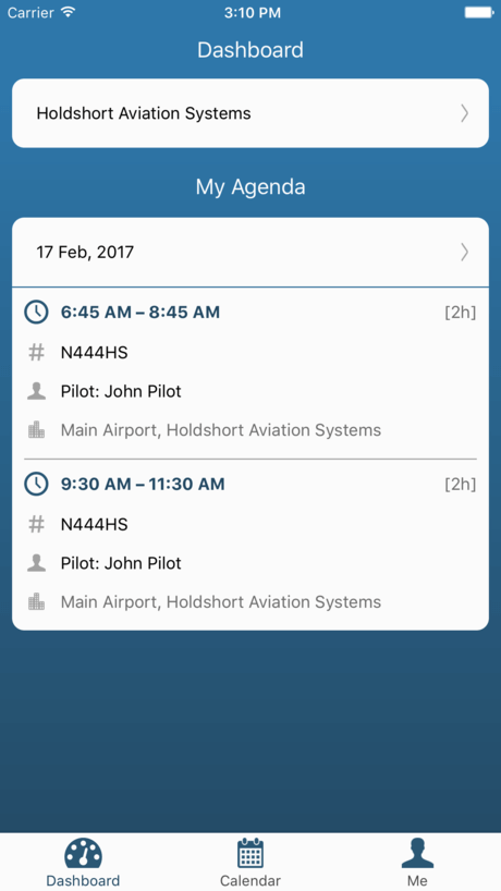 Holdshort App Dashboard